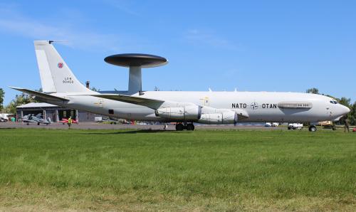 Słynny samolot - radar NATO zaprezentowany podczas AirShow w Poznaniu