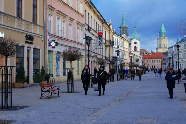 na deptaku w Lublinie