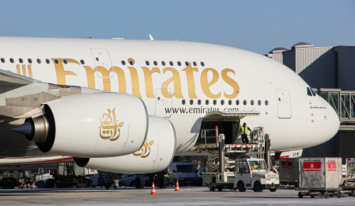 Pakowanie A380 przed powrotem do Dubaju.