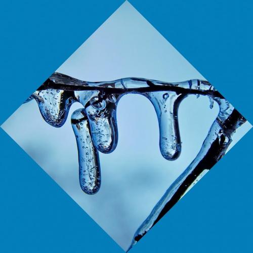 Zima w kolorze niebieskim