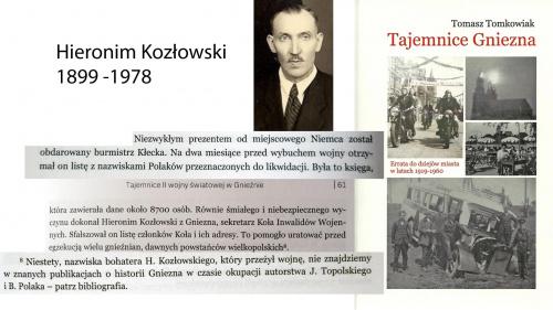 Oni ratowali życie powstanców wielkopolskich z okolic Gniezna. Hieronim Kozłowski