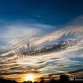 Kolczaste chmury czy podniebny Manhattan #zachód #słońca #chmury #kolce #Chojnice