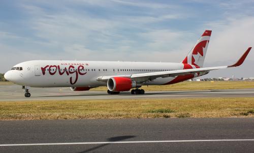 Ostatnia wizyta Air Canada Rouge w tym roku.