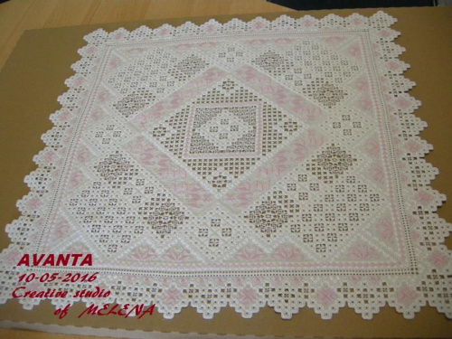 "Салфетка ""AVANTA"" отшита по собственной схеме, материал ""Линда"", 54х54см"