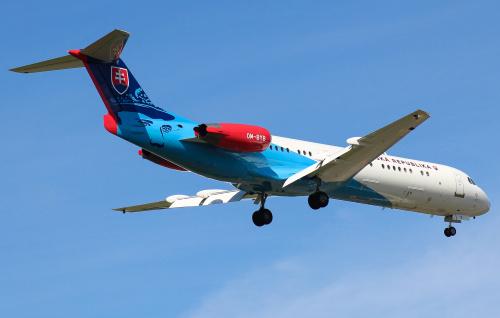 Samolot prezydencki Słowacji, z prezydentem tego kraju na pokładzie