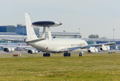 AWACS - czyli samolot dowodzenia NATO odwiedził dzisiaj nasze lotnisko.