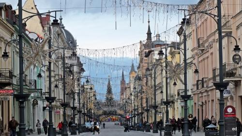 Łódź świątecznie