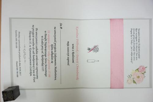 zaproszenie ślubne piktogramy prezentów