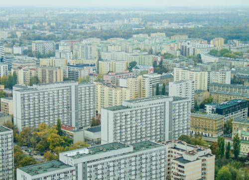 Warszawskie blokowiska widziane z najnowszego wieżowca Q22