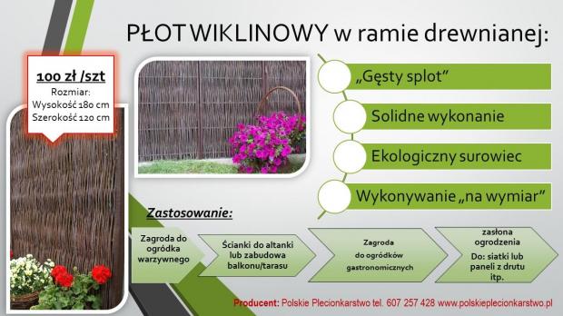 płot w ramie polskie plecionkarstwo