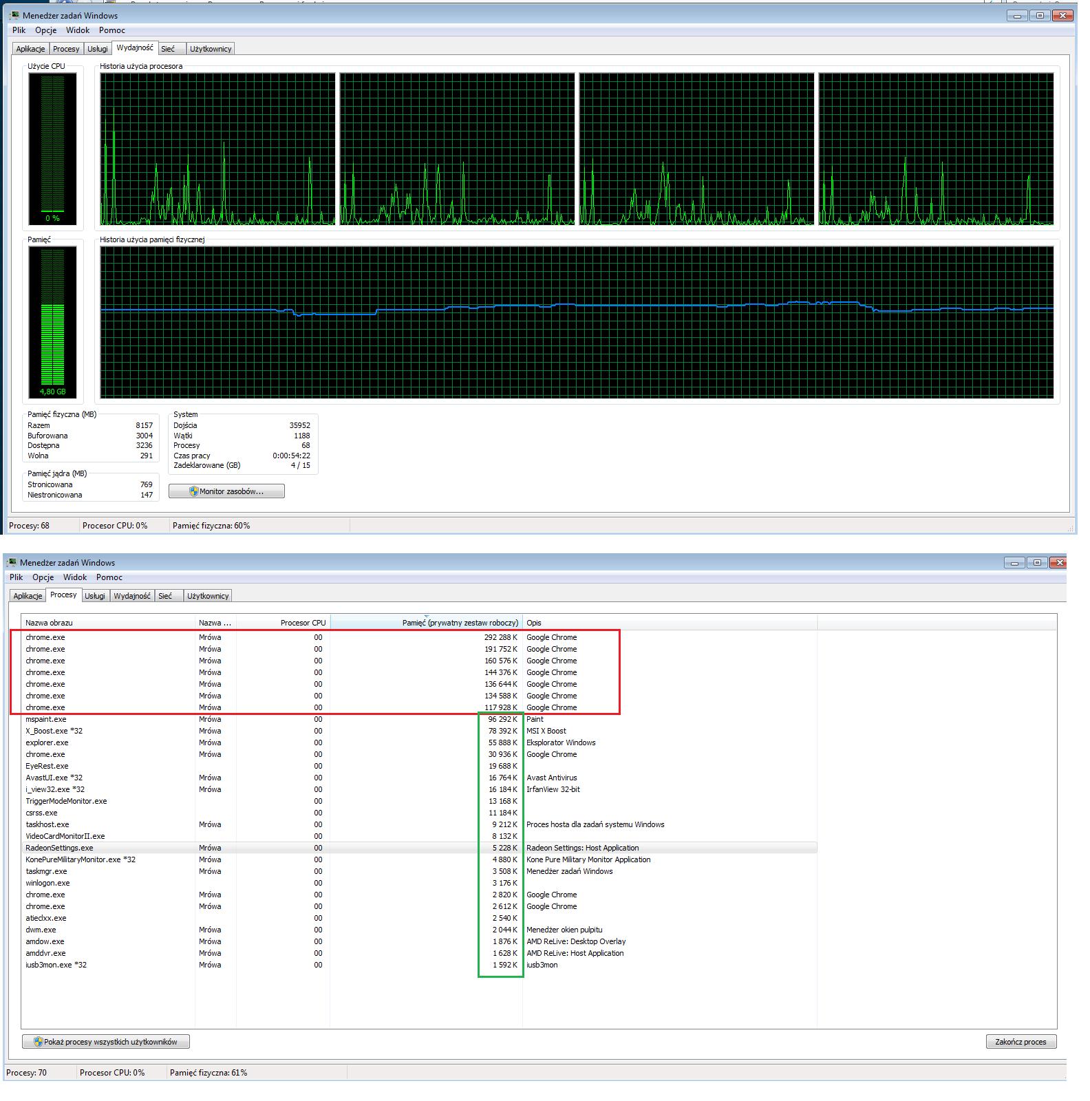 RE: Bardzo wysokie obciążenie procesora