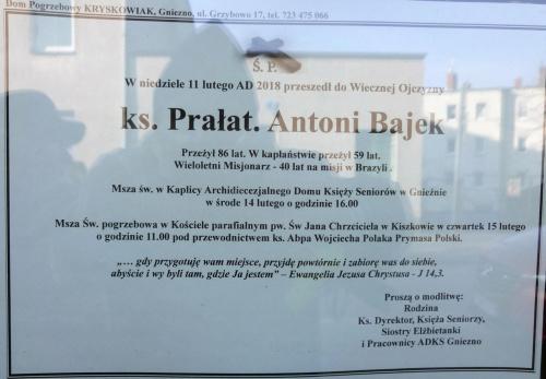 Ks. Prałat. Antoni Bajek